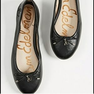 Sam Edelman Felicia Black Leather Flats SZ 6